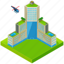architecture, building, helicopter, hotel, skyscraper icon