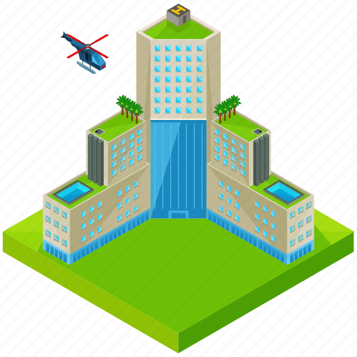 architecture, building, helicopter, hotel, skyscraper icon
