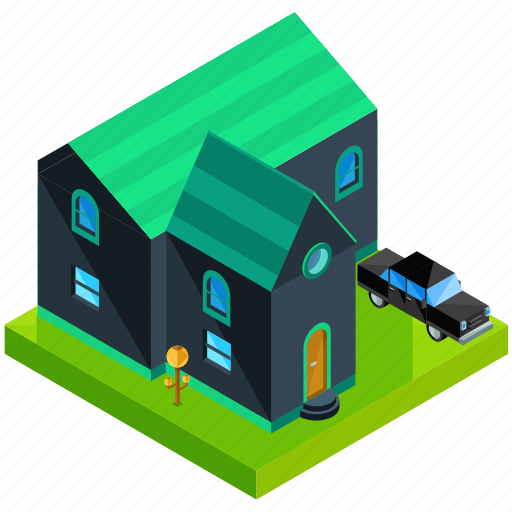 Architecture, building, car, estate, home, house, vehicle icon - Download on Iconfinder
