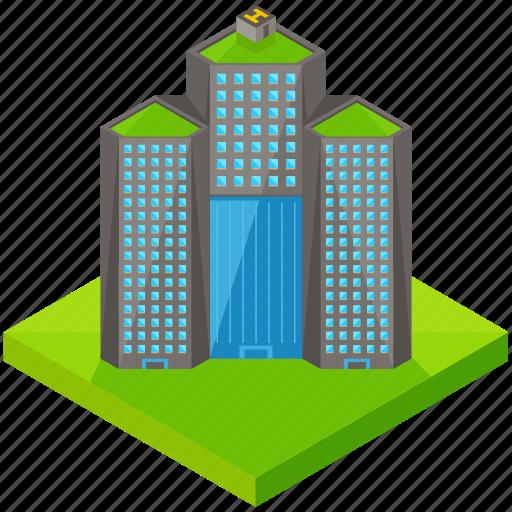 architecture, building, business, estate, hotel, skyscraper icon