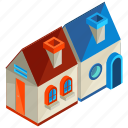 architecture, building, house, houses, neighbour, neighbouring icon