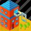 architecture, building, children, house, kids, playground icon