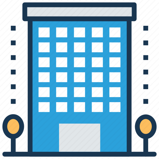 apartments, commercial building, flats, multistorey, residential building icon