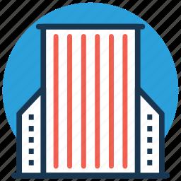 apartments, city building, flats, office block, skyscraper icon