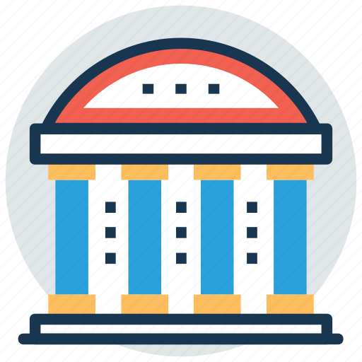 columns building, historical place, library, museum, tomb icon