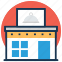 cafe, coffee house, eatery, pizzeria, restaurant icon