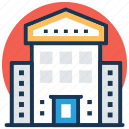 gallery, library, municipal library, public library, stadium icon