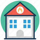 fire brigade, fire department, fire protection district, fire station, firefighting icon