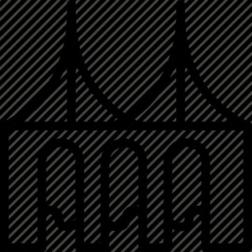 arc, building, cone, entrance, tower icon