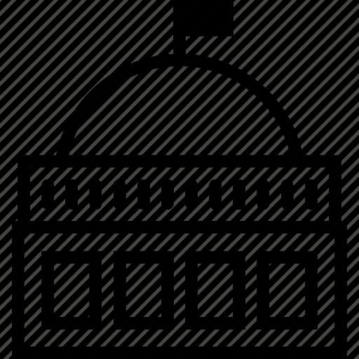building, capela, dome, flag icon