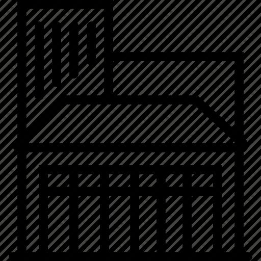 building, company, factory icon
