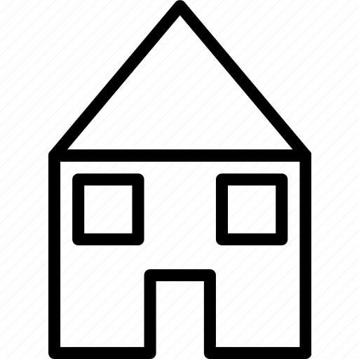 building, home, house, small icon