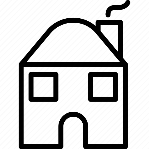 building, home, house, old, small icon