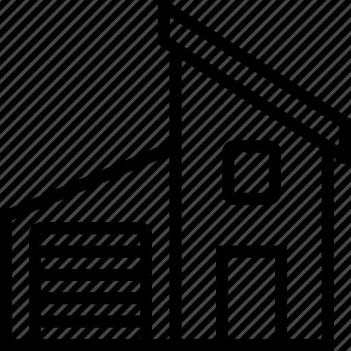 garage, home, house, modern icon