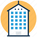 apartments, city building, city skyline, flats, skyscraper icon