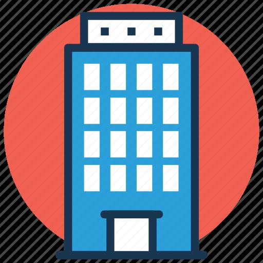 apartments, flats, shopping center, shopping mall, trade center icon