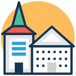 cathedral, chapel, christian church, church, religious building icon
