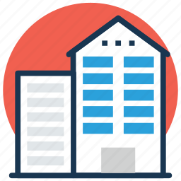 commercial building, company, office block, office building, office interior icon