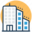 apartments, city building, flats, office block, skyscraper icon