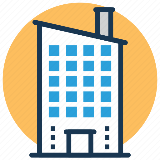 Commercial Building Company Head Office Headquarters Block Icon