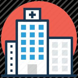building, hospital, infirmary, medical center, sanatorium icon