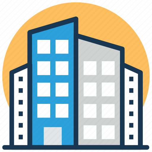 apartments, commercial building, multi story, office block, residential building icon