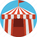 circus, house, tent icon