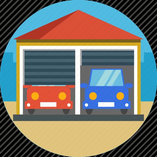 building, car, garage, parking, porch icon