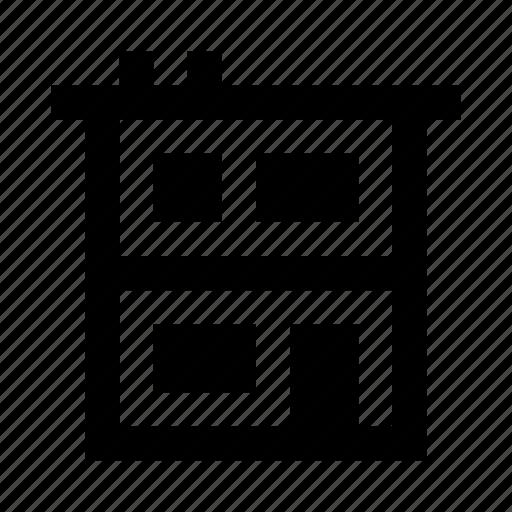 building, construction, decker, double, estate, house, real icon