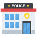 government building, police headquarters, police office, police station, station house icon