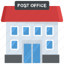 building, government building, gpo, mail depot, post office icon