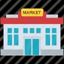 arcade, building, commercial building, market place, restaurant icon
