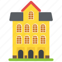 building, educational building, institution, library, museum icon