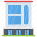 arcade, building front, condominium, residential building, residential flats icon