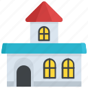 building exterior, building front, city hall, community hall, large building icon
