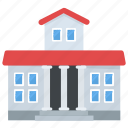 building, bungalow, duplex house, dwelling, luxury house icon