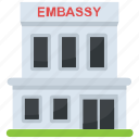 building, building with columns, embassy building, government building, historic building icon