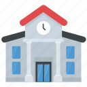 college, educational building, library, museum, secondary school icon