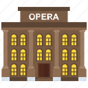 building, opera, opera house, theater, theater building icon