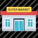 commercial building, marketplace, shop, supermarket, supermarket architecture icon