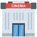auditorium, building, cinema, movie house, movie theater icon