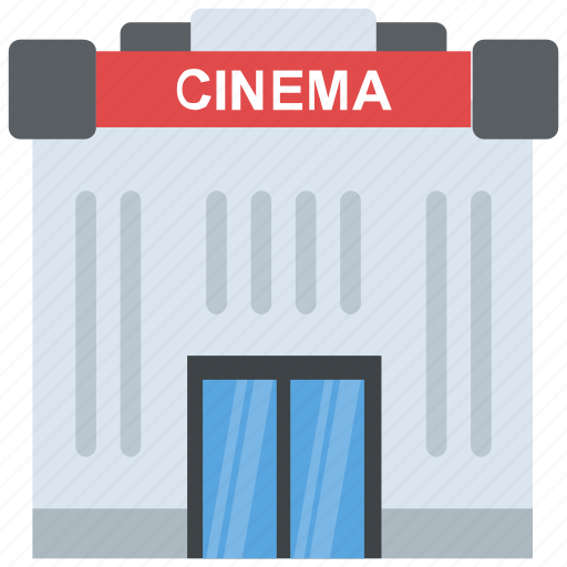 auditorium, building, cinema, movie house, movie theater icon