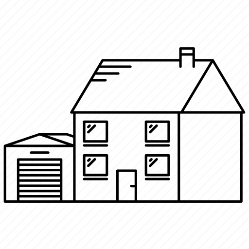 detached, garage, house, houses icon