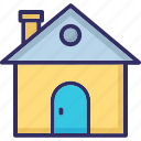 agricultural home, farm house, home, rural house icon