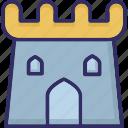 building, castle, citadel, fortress icon