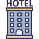 building, hotel, inn, motel icon