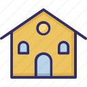 bank, bank building, building columns, building exterior icon