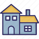 building, country house, farmhouse, traditional house icon