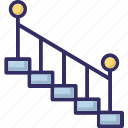 downward, indoor, staircase, stairs icon