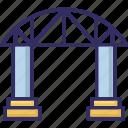 bridge, motorway, passage, railway icon